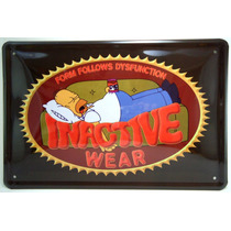 Placa Vintage King Metal Importada 30x20cm Simpsons V-011