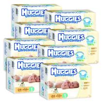 Caja De Huggies Ultraconfort E1 8 Paquetes - 192 Pañales