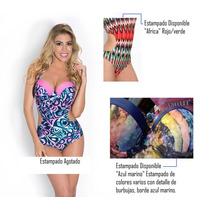 Yamiel Trikini Soft Con Arco Bombacha Alta Mallas 2017 Nueva