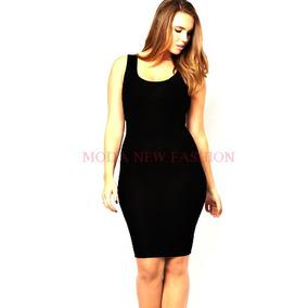 Vestido Tubinho Em Suplex Modelo Regata Até Plus Size 50 G2