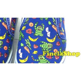 Zapatos Tipo Paseo Vans Yo Gabba Gabba Azul Rey Finelashop