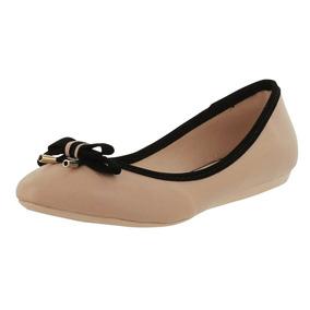 Flat C/moño Dama Mujer Balerina Zapato Casual Dorothy Gaynor