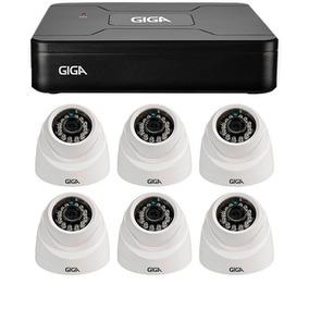 Kit 6 Câmeras Seguranç Giga Security Gs0012 + Dvr 8 Canais
