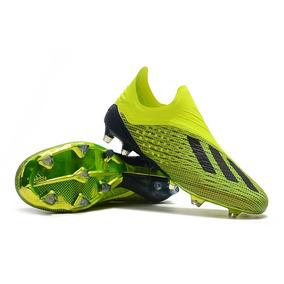 3323c7825e Chuteira Botinha Adidas - Chuteiras Adidas para Adultos Verde limão ...