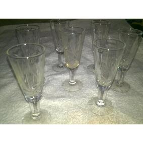 Copas De Cristal Tallado Liquido Varios Tamaños Cantidad