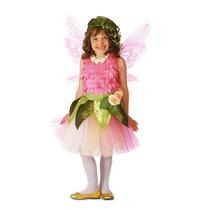 Disfraz De Lujo Hada Madrina De Rosas Fairy Alas 3 Piezas
