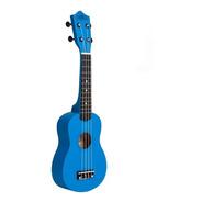 Ukelele Soprano Bamboo Color Azul Panda C Funda Pua Regalo