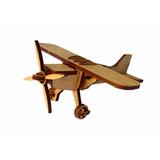 Avião Monomotor Pequeno - Mdf Crú - Festa - Lembrancinha