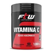 Vitamina C Ácido Ascórbico - 60 Cápsulas De 1000mg - Ftw