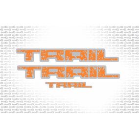 Kit Adesivos Ford Fiesta Trail Laranja/cinza Trailpl