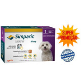 Anti Pulgas Simparic 10mg Com 1 Comprimido Cães 2,6 A 5 Kg