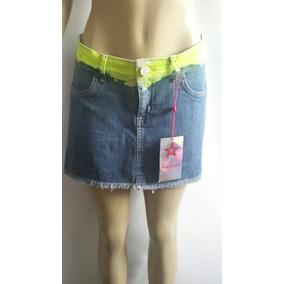 Saia Jeans Nova Da Planet Girls Tamanho 38 Com Lycra