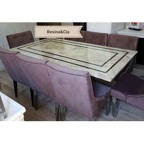 Mesa Travertino Com Ratam Base E Tampo 1.60 X 0.90