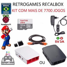 Acessórios Raspberry Pi3 Pi 3 Recalbox / Batocera 32gb C10