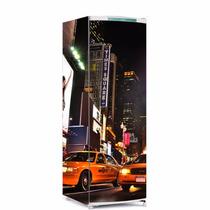 Adesivo De Geladeira Times Square Envelopamento