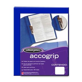 Folder De Papel Tamaño Carta Acco Tipo Carpeta Color Azul
