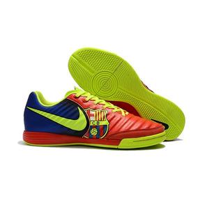 Chuteira Nike Tiempo Natural Iv Ic Futsal Jr Branco C  Azul ... e1bcdcd4a6792