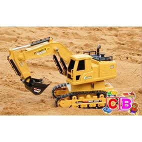 Trator Escavadeira De Controle Remoto Bateria Recarregavel