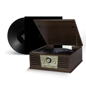 Radio Vintage Cd Pen Drive Fm Usb Bluetooth Toca Disco Vinil