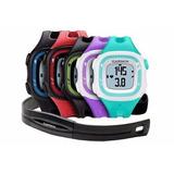 Reloj Gps Garmin Fr15 Negro Y Azul + Hrm Banda Cardíaca
