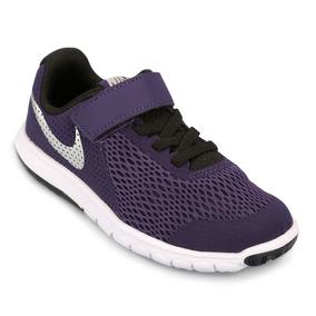 Zapatillas Nike Flex Experience 5 Infantil - Violeta Y Negro