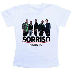 Camiseta Baby Look Feminina / Sorriso Maroto Jk6434