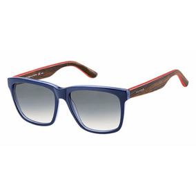 dcf60fd39ddbd Óculos De Sol Tommy Hilfiger Th 1243s - Azul Marrom Vermelho. R  590