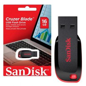 Pen Drive 16gb Sandisk Cruzer Blade Lacrado Original