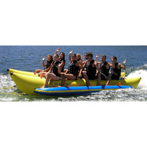 Island Hopper Banana Inflable Comercial Playa 10 Personas