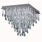 Plafon Caireles De Cristal 8 Luces De Led 50x50