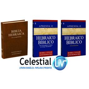 Kit Aprenda O Hebraico Bíblico Texto + Exercícios + Bíblia