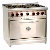 Cocina Morelli 900 Acero 6 Hornallas 87cm