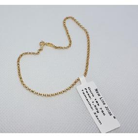 08c1f95c60fe6 Pulseira Elos Portuguesa Em Ouro 18k 750 Impecável 1,50g