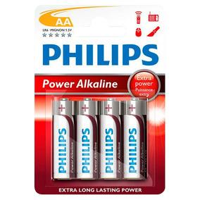 Pilas Philips Alcalinas Aa Larga Duración Pack X4 Oferta Loi