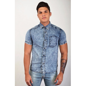 Camisa De Jeans Prelavada Marca Altoretti Ats126
