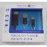 Cabo Celular Galaxy S3/4/5 Note 2/3/4 Usb Hdtv Leilao