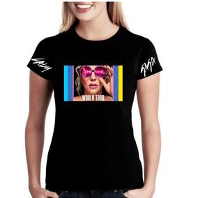 Camisa Camiseta Baby Look Lady Gaga Joanne World Tour Música