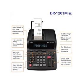 Calculadora De Mesa Casio Visor E Fita Dr-120tm