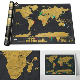 Mapa Mundi Mapamundi Mundo Raspar Países Conocidos Únicos!!!