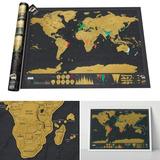 Raspar Mapa Mundi Mapamundi Países Conocidos Extra Grandes
