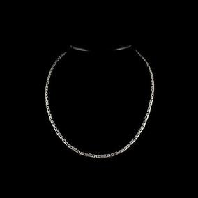 Cordão Corrente De Bali Ponto Peruano Masculino Em Prata 925