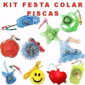 Kit 35 Óculos + 30tiaras + 100 Pulseiras Neon+50 Colar Pisca