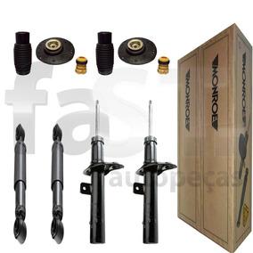 4 Amortecedores Monroe + Kits Peugeot 206 1.4 Sw
