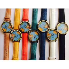Reloj Del Mapa Del Mundo Con Avion Segundero Viajes Volaris