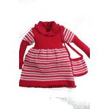 Vestido E Bolsinha Tricot Infantil Inverno Crianças Meninas