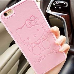 Funda Tipo Cuero Iphone 5 5s Hello Kitty Rosa