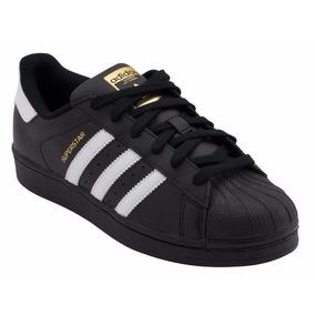 adidas Superstar Concha Negro Dorados Originales