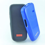 Funda Tpu Negro / Azul Nokia N100 Microcentro