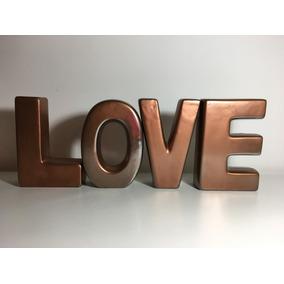 In Love Letras Decorativas Cobre Tok Stok
