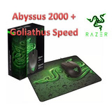 Kit Mouse Razer Abyssus 2000 + Pad Mouse Goliathus Speed